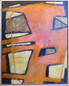 MCM abstract painting by Robinson